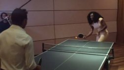 Serena Williams y Wawrinka en gran duelo de ping pong [VIDEO]