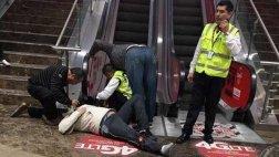 Invidente cayó de escalera mecánica en centro comercial