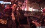 Miraflores: chocó su auto contra árbol e insultó a periodistas