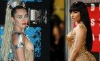 Miley Cyrus y Nicki Minaj, las más buscadas de los VMA 2015