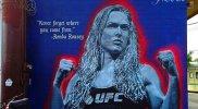 Ronda Rousey: impresionante mural en lugar donde creció