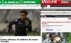 André Carrillo: Sporting Lisboa recibió oferta de Leicester