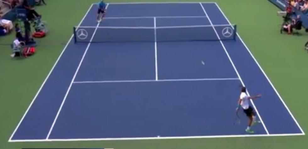 US Open: increíble punto compite a ser el mejor del torneo
