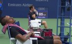 US Open: jugador se tomó una siesta en pleno partido [VIDEO]