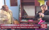 Madres denuncian maltratos de profesora en SJL