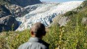 Obama recorre glaciar para alertar sobre el cambio climático