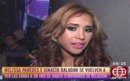 """Melissa Paredes sobre Ignacio Baladán: """"Para mí, murió"""" [VIDEO]"""