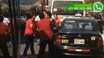 WhatsApp: taxista y conductor de Chosicano en pelea callejera - Noticias de peleas callejeras