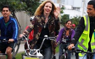 Christina Rosenvinge fomenta uso de bicicletas en Lima [FOTOS]