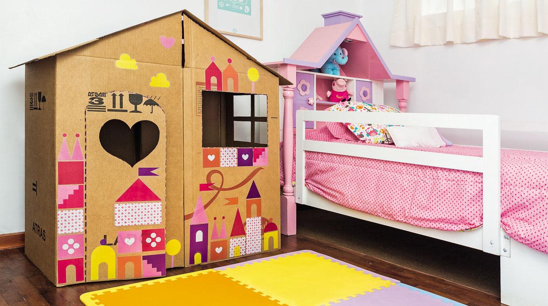 Hazlo t mismo aprende a hacer una peque a casa de cart n - Casas para ninos de carton ...