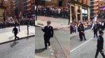 """Policía baila """"Footloose"""" durante marcha de Orgullo Gay [VIDEO] - Noticias de footloose"""