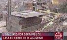 El Agustino: joven murió tras derrumbe de muro sobre su casa