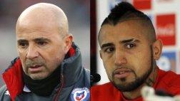 """Sampaoli: """"No percibí a Vidal bajo los efectos del alcohol"""""""