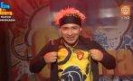 """""""Esto es guerra"""": Zumba vistió la camiseta de Los Leones"""
