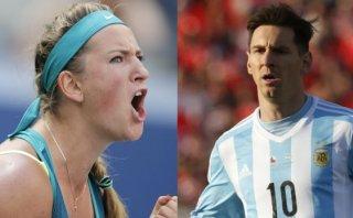 Victoria Azarenka reveló su debilidad por Lionel Messi