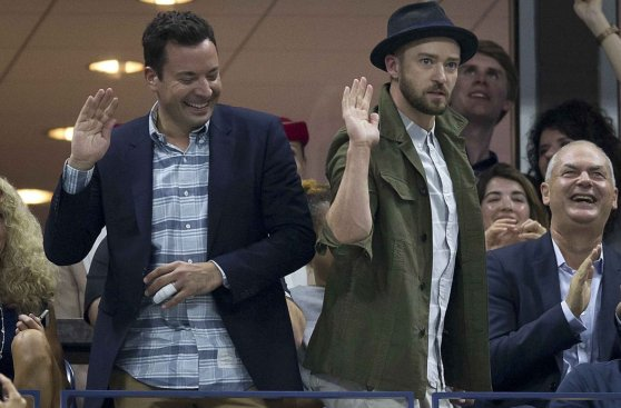 Justin Timberlake celebró bailando victoria de Federer (FOTOS)