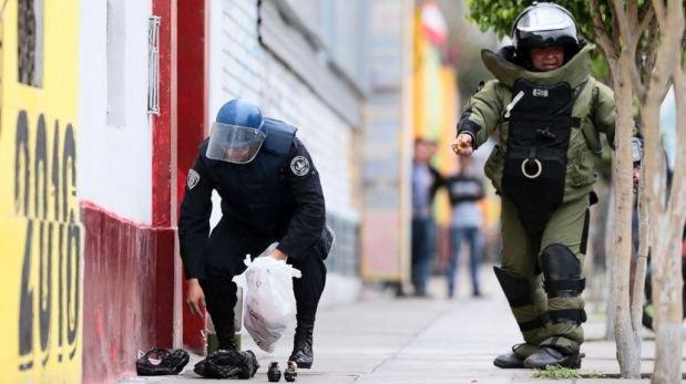 Breña: detenido con 51 granadas es ex policía con antecedentes