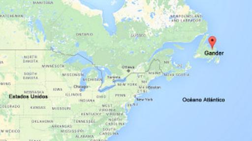 Gander está ubicado en la esquina nororiental de Canadá. (Imagen: Google Maps)