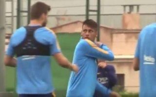 Neymar se ofuscó por esta broma de mal gusto de Piqué [VIDEO]
