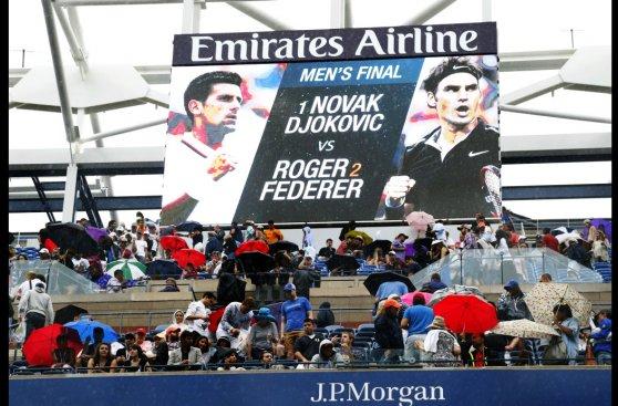 US Open: postales de una final demorada por lluvia (FOTOS)