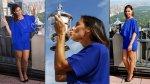 Flavia Pennetta mostró a toda Nueva York su trofeo del US Open - Noticias de fabio reis