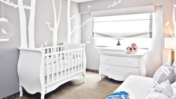 Decora usando color gris en el cuarto de los ni os for Cuarto gris con blanco
