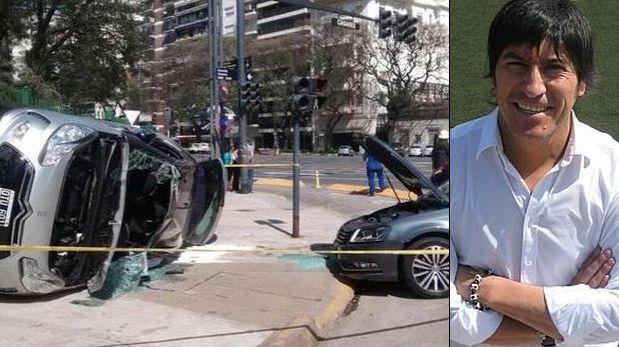 Iván Zamorano sufrió aparatoso accidente automovilístico