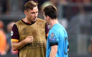 Totti le pidió este particular favor a Lionel Messi [VIDEO]