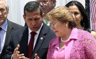 Humala ofrece apoyo a gobierno de Bachelet tras terremoto