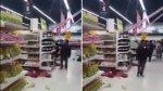 Hombre aprovechó terremoto para robar botella de vino [VIDEO] - Noticias de muerto en centro comercial