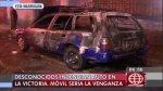 La Victoria: incendian auto y el dueño sospecha de una venganza - Noticias de manuel cruz salazar
