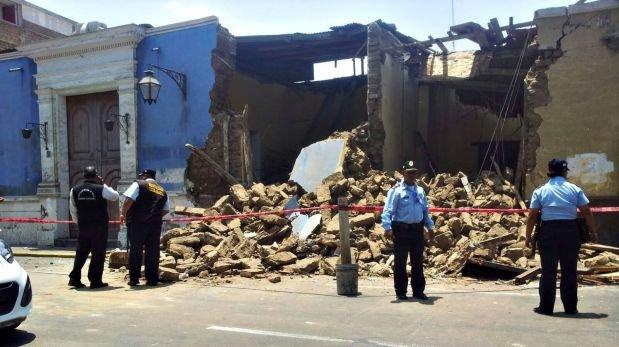 Trujillo: colapsó casona ubicada en el Centro Histórico