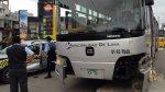 Barranco: choque entre Metropolitano y taxi dejó 6 heridos - Noticias de accidente de bus