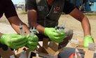 Chimbote: posta del Minsa botaba material peligroso a la calle