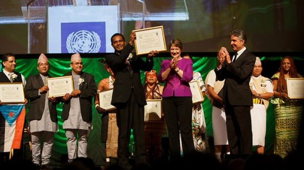 Ganadores del premio Equator 2014 (Foto: Equator)