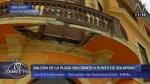Plaza Bolognesi: balcón en zona monumental a punto de colapsar - Noticias de avenida perú