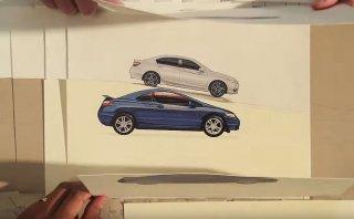 YouTube: Honda resume su historia utilizando trozos de papel