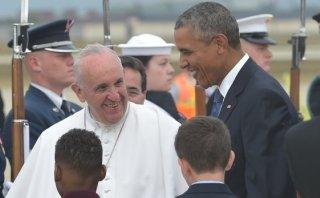 Así fue recibido el Papa por Obama al llegar a EE.UU. [VIDEO]