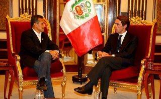 Presidente Ollanta Humala se reunió con José María Aznar