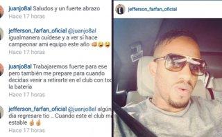 Jefferson Farfán y Juan Jayo: ¿Qué se dijeron en Instagram?