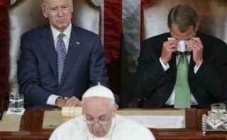 El llanto del republicano John Boehner ante el papa Francisco