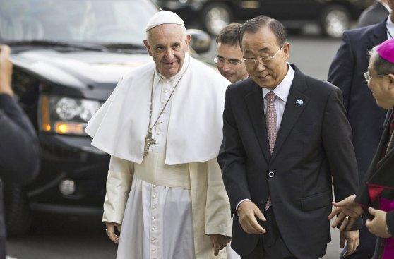 Las postales de la histórica presentación del Papa en la ONU