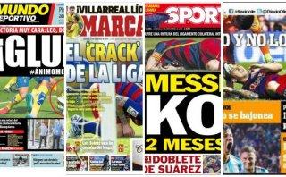 Lionel Messi: Prensa, Argentina y Barcelona lamentaron lesión