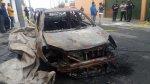 San Miguel: incendiaron auto con artefacto explosivo - Noticias de servicio civil