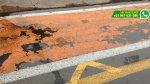 WhatsApp: ciclovía inaugurada hace una semana en Surco luce así - Noticias de vehículos mal estacionados