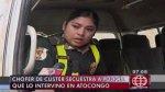 Chofer con papeletas por S/. 85 mil secuestró a mujer policía - Noticias de hector pacheco