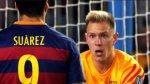 La discusión de Suárez con Ter Stegen por gol de Leverkusen - Noticias de luis suarez