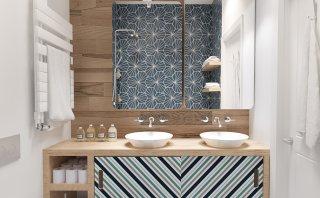 Logra ambientes modernos con el uso de figuras geométricas