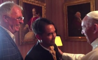 Papa Francisco se reunió con pareja gay en Washington [VIDEO]