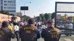Av. Abancay: un sentido está bloqueado por marcha de sacrificio - Noticias de policía de tránsito